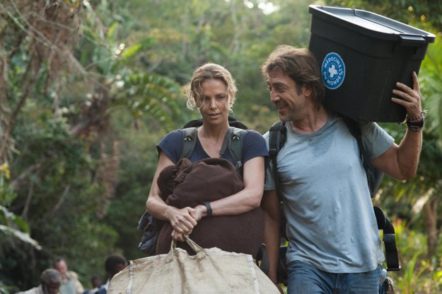 Charlize Theron a Javier Bardem vo filme Last Face.