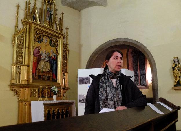 Prednáška Barbory Glockovej o regotizácii kostola v 19. storočí.