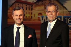 V rakúskych prezidentských voľbách zvíťazil Alexander Van der Bellen (vpravo).