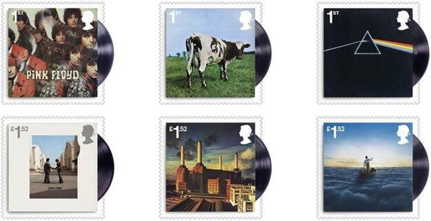 Známky Pink Floyd od Royal Mail.