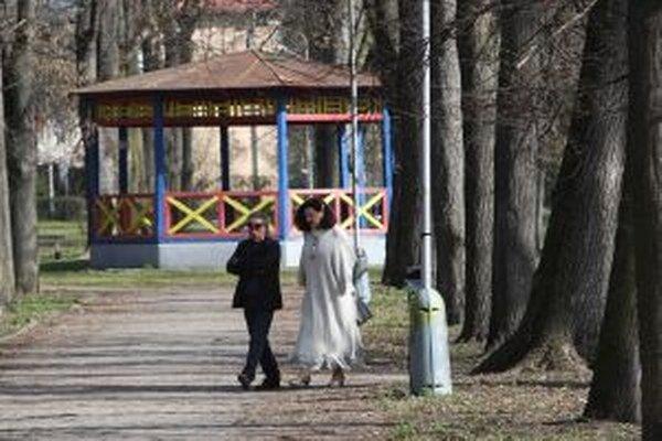Mestský park v Banskej Bystrici.