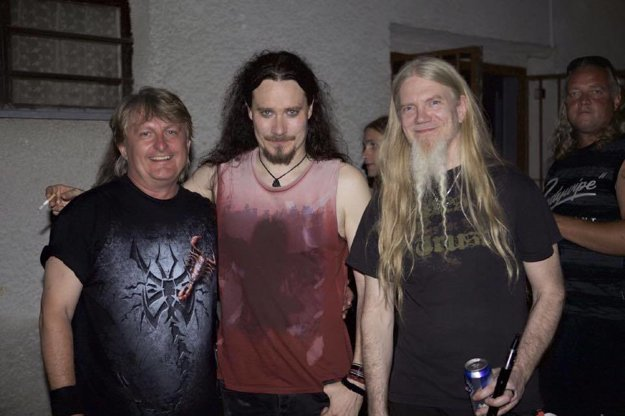 Zľava Milan Sitár zo Symfobie, basgitarista Marco Hietala a klávesák Tuomas Holopainen zNightwishu.