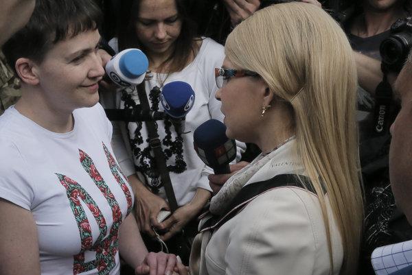 Savčenkovú víta Tymošenková.