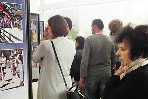 Na otvorení výstavy.