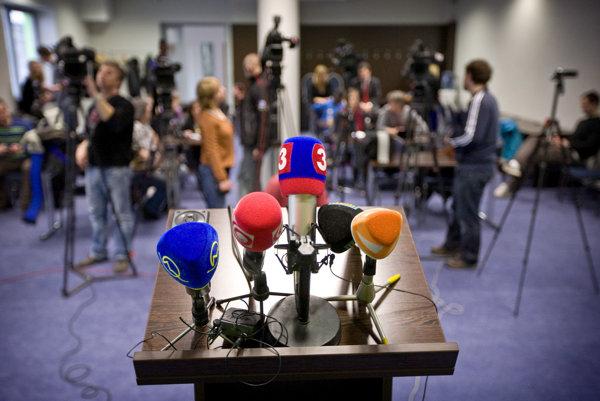 Novinári a médiá - ilustračná fotka.