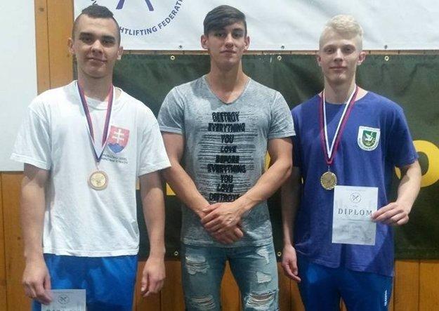 Zľava: Matej Poláček, Patrik Broda aVladimír Kubala.