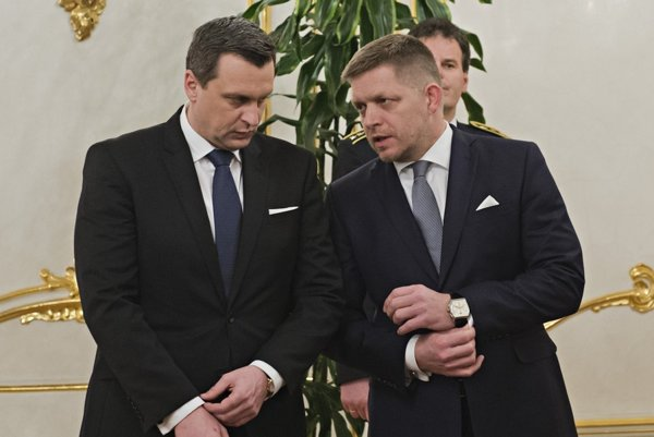 Andrej Danko a Robert Fico.
