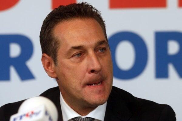 Líder rakúskej pravicovej strany Slobody FPÖ Heinz Christian Strache.