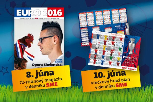Príloha SME k majstrovstvám Európy vo futbale a hrací plán do vrecka.