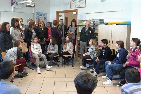 Na vyučovaní v talianskej škole.