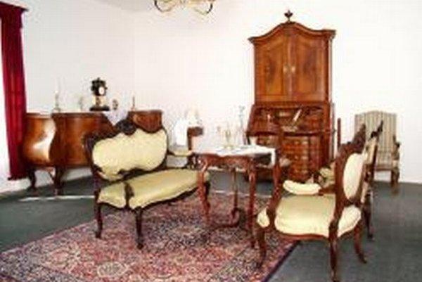 Interiér Mestského múzea v Želiezovciach.