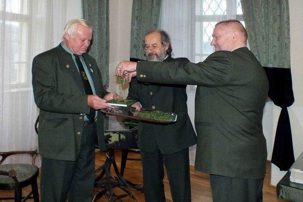 Na krste knihy (zľava) Š. Palaťka, M. Číž a O. Koudelka.
