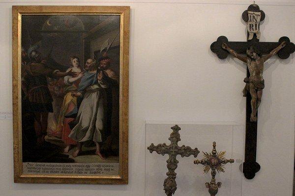 Výstava je venovaná 1150. výročiu príchodu sv. Cyrila a Metoda na naše územie.