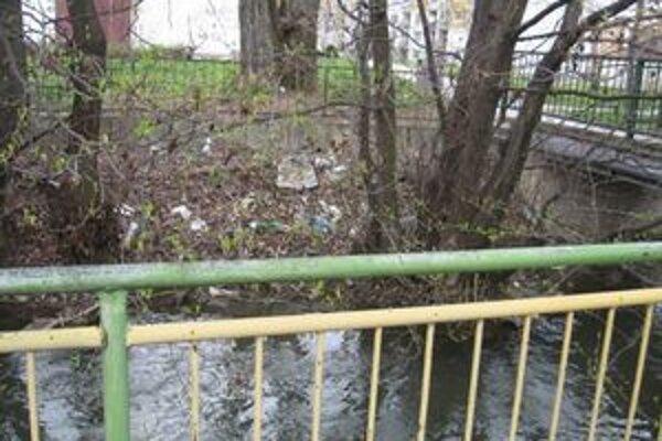 Brehy potoka Perec sú znečistené odpadom a nánosmi. Ľudia si prírodu často mýlia s odpadovými košmi.