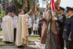 Posvätenie sôch vierozvestcov v Brodskom.