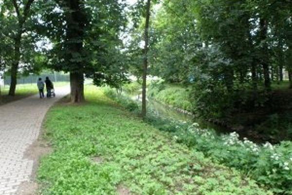 Park L. Novomeského v Senici.