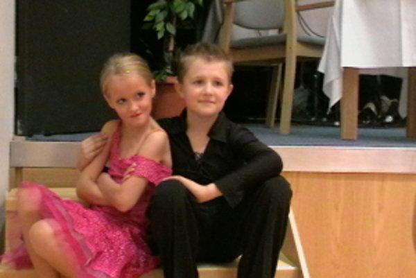 Vendulka a Štepán, úspešní tanečníci.