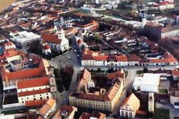 Letecký záber Skalice.