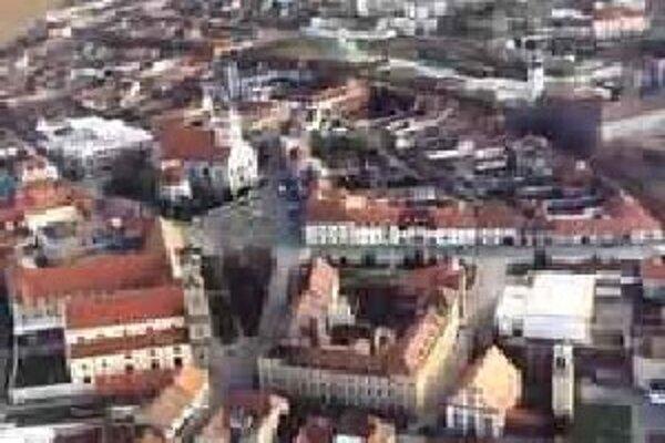 Mesto Skalica z leteckého pohľadu.
