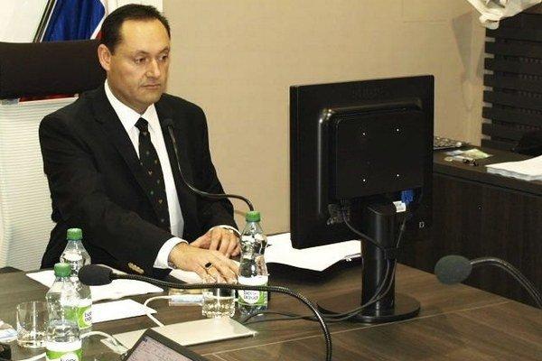 Otokar Klein na prvom rokovaní nového zastupiteľstva.
