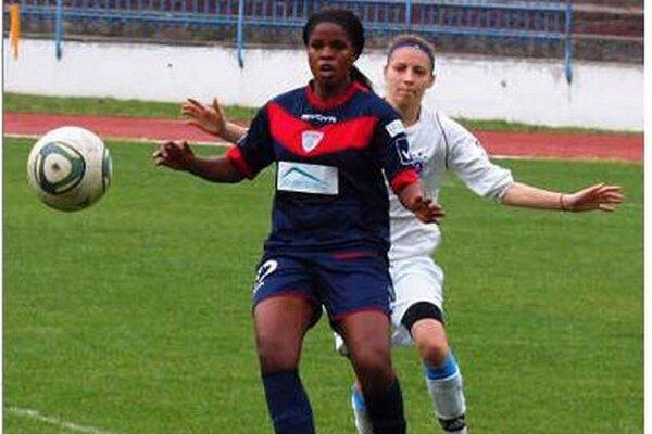 Juhoafričanka Andisiwe Mgcoyi zaťažila konto Žilinčaniek dvoma gólmi.