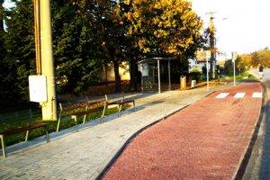 Časť zrekonštruovaného chodníka.