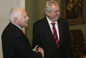 Václav Klaus a Miloš Zeman.
