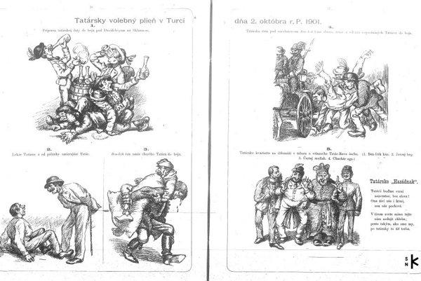 O voľbách v Turci sa zmienil i časopis Černokňažník v r.1901.