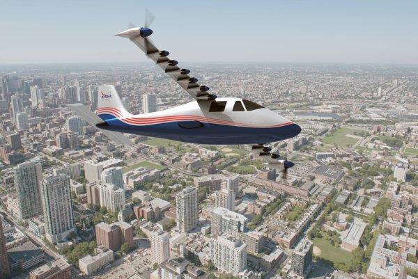 Elektrické lietadlo X-57.
