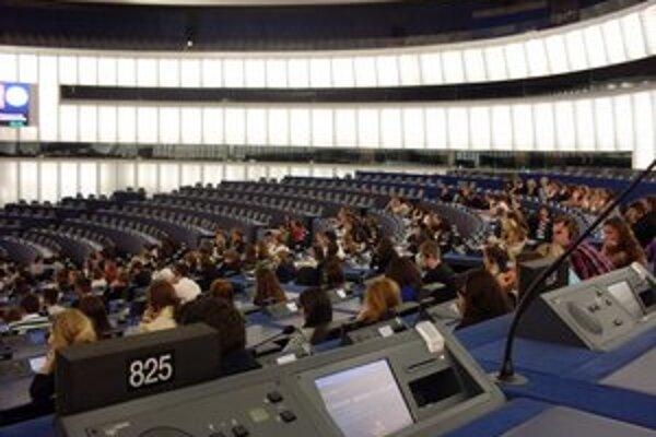Študenti v Štrasburgu.