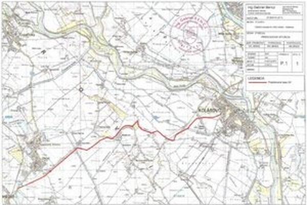 Mapa trasovania optických káblov.