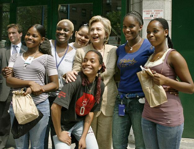 Ako senátorka v roku 2006 na návšteve newyorského Harlemu