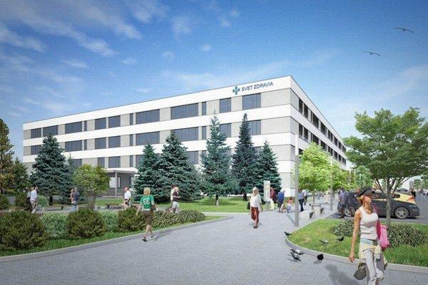 Michalovská nemocnica. Penta chce do výstavby nového pavilóna investovať 34 miliónov eur.