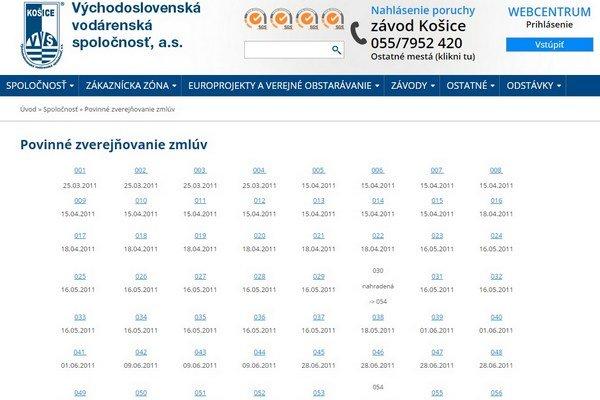 Transparentnosť podľa vodární - zmluvy 032, 033, 034... VVS tvrdí, že niekomu to vyhovuje tak, ďalšiemu inak.