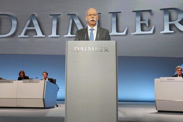 Šéf nemeckej automobilky Dieter Zetsche.