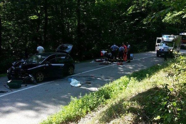 Napriek veľkej snahe všetkých záchranných zložiek sa život motorkárky zachrániť nepodarilo.