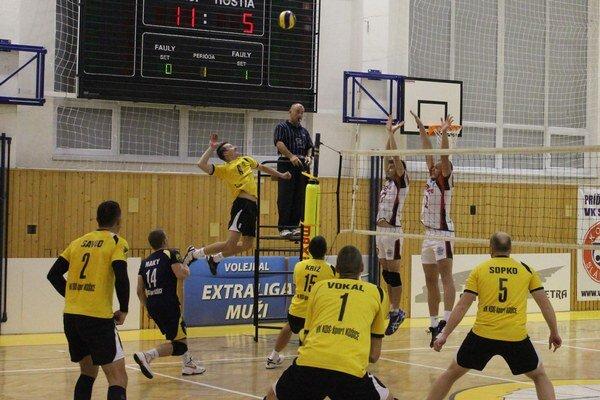 Roman Németh. Napriek jeho úspešným smečom Košičania prehrali.