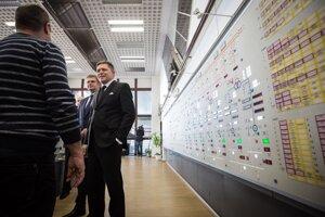 Predseda vlády Robert Fico počas fyzického preberania Vodnej elektrárne Gabčíkovo.