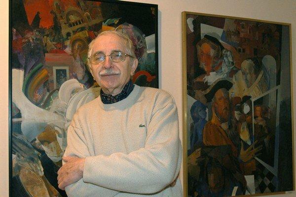 Oslávenec. Na výstave prezentuje tvorbu od príchodu do Košíc.