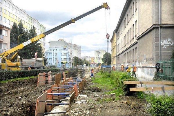 Práce na Kuzmányho. Viceprimátor Jakubov priznal, že napredujú pomalšie, ako sa predpokladalo.