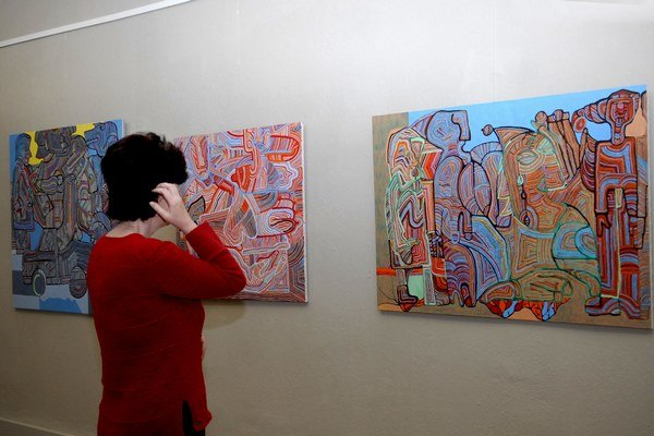 "Puntičkársky zvládnuté ""remeslo"". Výstava u Löfflera je originálna."