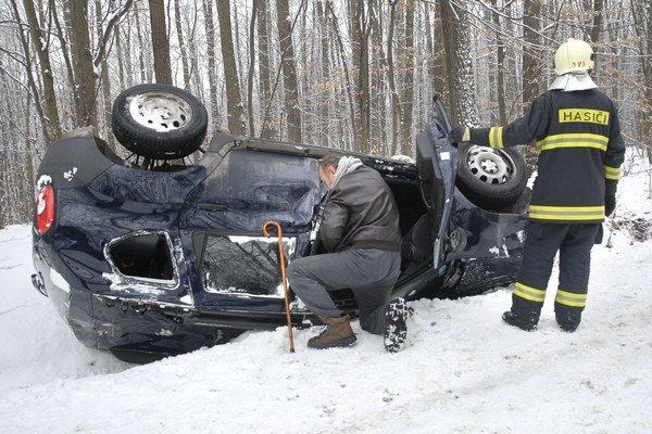 Po nehode v Myslave.