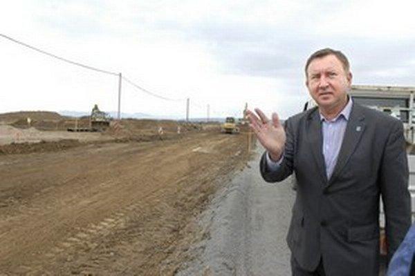 Výstavba priemyselného parku už je v plnom prúde.