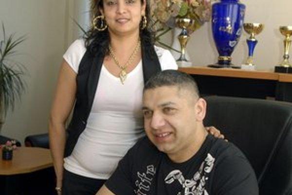 Slepčíkovci. Dionýz Slepčík s manželkou Monikou.