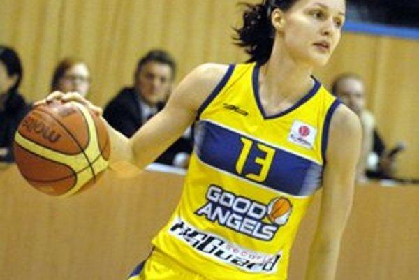 Lucia Kupčíková. Kapitánka Good Angels si túto sezónu pochvaľuje.