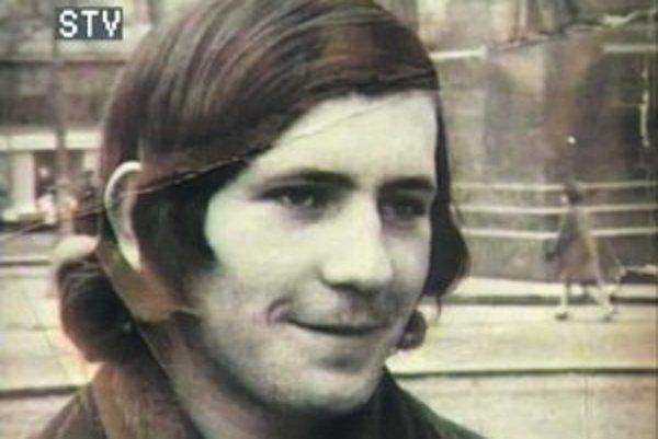 Michal Lefčík (1950 – 1969). Záber je z filmu Tibora Iča Neznáma košická obeta.