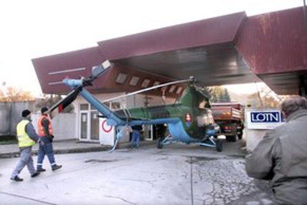 Rampová. Vrtuľník sa do cieľa dostal bez nehody.