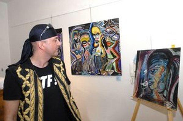 Attila Tverďák. Jeho obrazy nájdete na výstave do 16. júla.