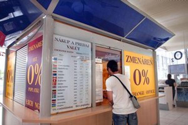 Košičania chcú zahraničné meny.