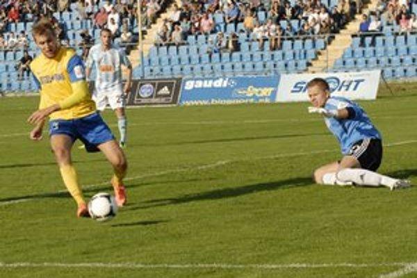 Dávid Škutka. V Senici strelil druhý gól v sezóne.